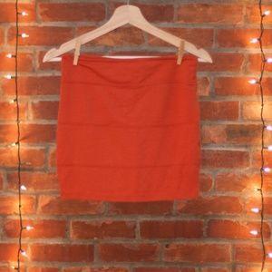 Dresses & Skirts - Orange Mini shirt